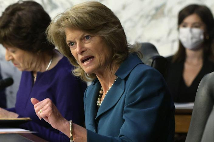 Sen. Lisa Murkowski, R-Alaska, speaks during a hearing of the Senate Appropriations Committee on Wednesday.