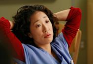 """<p>There have been a lot of exists on <em>Grey's Anatomy</em>—see above—but not hit quite as hard as Dr. Cristina Yang (Sandra Oh) departing the series. When we <a href=""""https://www.glamour.com/story/since-sandra-oh-is-leaving-gre?mbid=synd_yahoo_rss"""" rel=""""nofollow noopener"""" target=""""_blank"""" data-ylk=""""slk:heard the news"""" class=""""link rapid-noclick-resp"""">heard the news</a>, we all thought: <em>What will Meredith do without her bestie</em>? Still waiting for that answer, to be honest.</p> <p><a href=""""https://www.netflix.com/title/70140391?source=35"""" rel=""""nofollow noopener"""" target=""""_blank"""" data-ylk=""""slk:Available to stream on Netflix"""" class=""""link rapid-noclick-resp""""><em>Available to stream on Netflix</em></a></p>"""