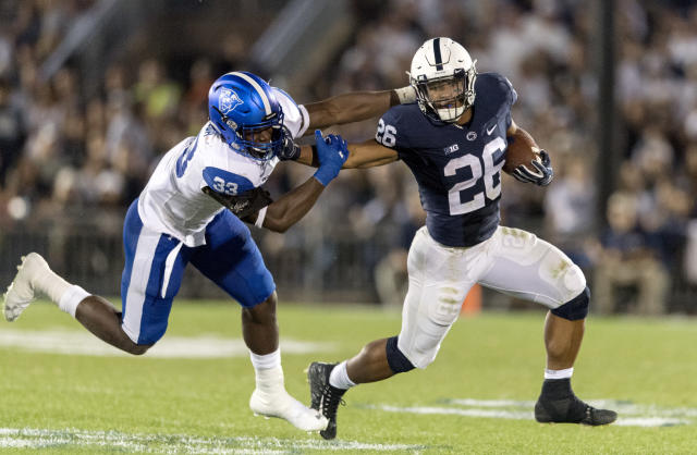 Penn State running back Saquon Barkley looks like a Heisman contender this season. (AP)