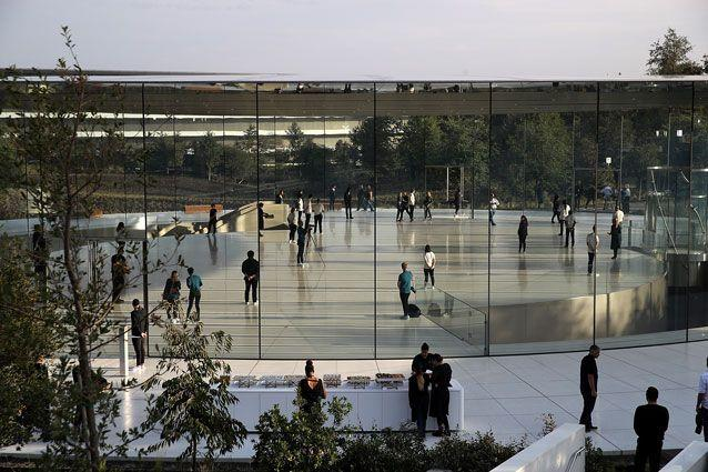 Outside the Apple Park campus in Cupertino. Source: Getty Images