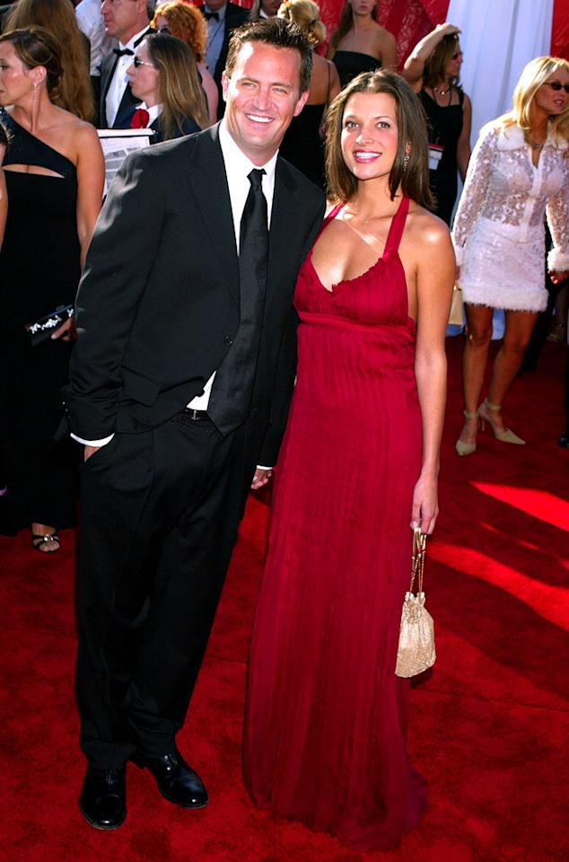 Matthew Perry & guest at the 55th Annual Primetime Emmy Awards in Los Angeles, California on September 21, 2003.