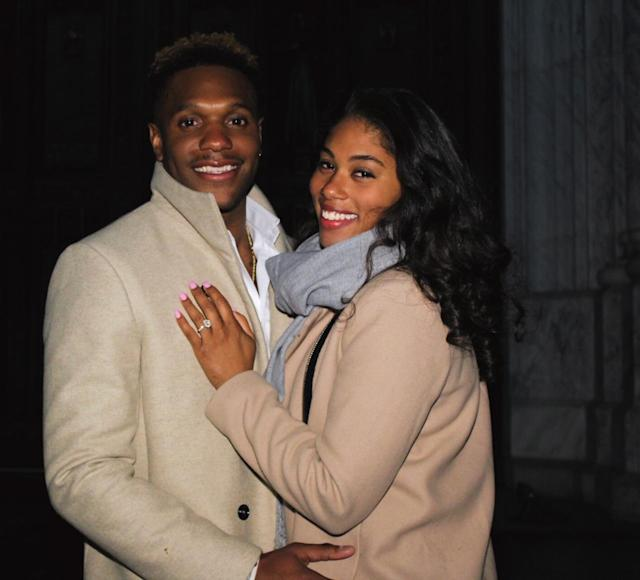 McLeod and Lee are engaged! (Photo: Courtesy of Evan Odeseye)