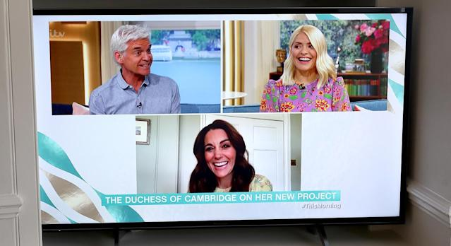 The Duchess of Cambridge appeared on This Morning to talk about the launch of Hold Still on Thursday morning. (Getty Images)