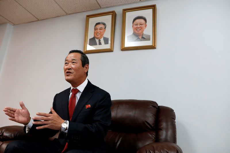 FILE PHOTO: North Korean ambassador to the United Nations Kim Song speaks during a news conference in New York