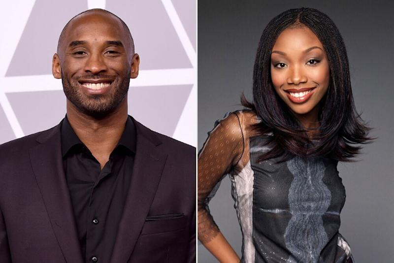 Kobe Bryant; Brandy | Matthew Rolston/Getty Images; Kevin Winter/Getty Images