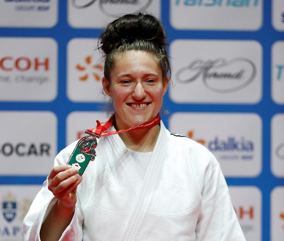 Powell captured World Championship bronze in Hungary in 2017