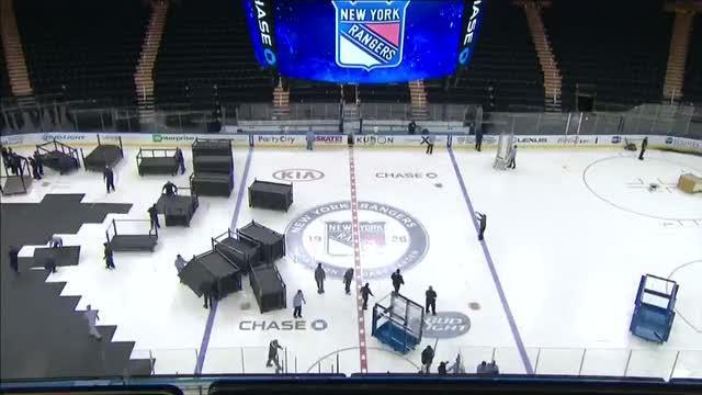 Basketball to Hockey time-lapse at MSG [Video]