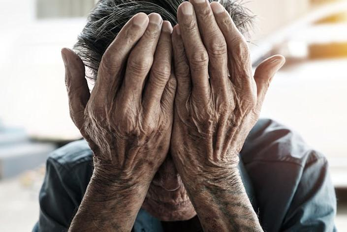 """<span class=""""caption"""">Anyone can be a victim of mental abuse.</span> <span class=""""attribution""""><a class=""""link rapid-noclick-resp"""" href=""""https://www.shutterstock.com/image-photo/senior-man-covering-his-face-hands-430875256"""" rel=""""nofollow noopener"""" target=""""_blank"""" data-ylk=""""slk:Shutterstock"""">Shutterstock</a></span>"""