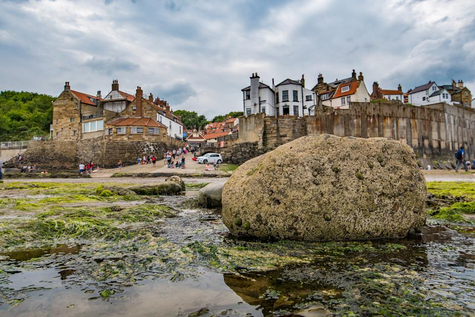 UK, England, Yorkshire - A small fishing village called Robin Hood's Bay, located on the coast of North Yorkshire, England. (Photo by: Edwin Remsberg / VWPics/Universal Images Group via Getty Images)