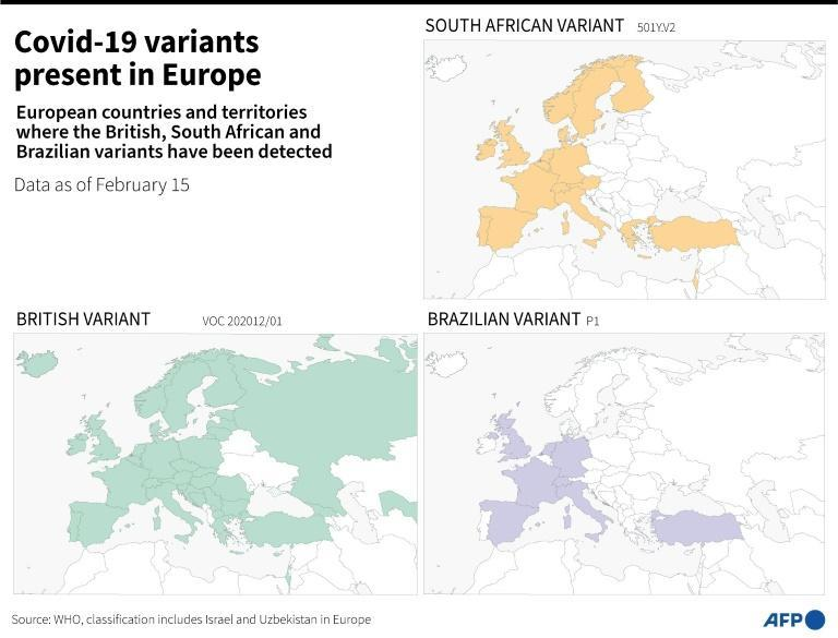 Of the current known variants, three are particularly worrying: those initially detected in southeast England, South Africa and Brazil