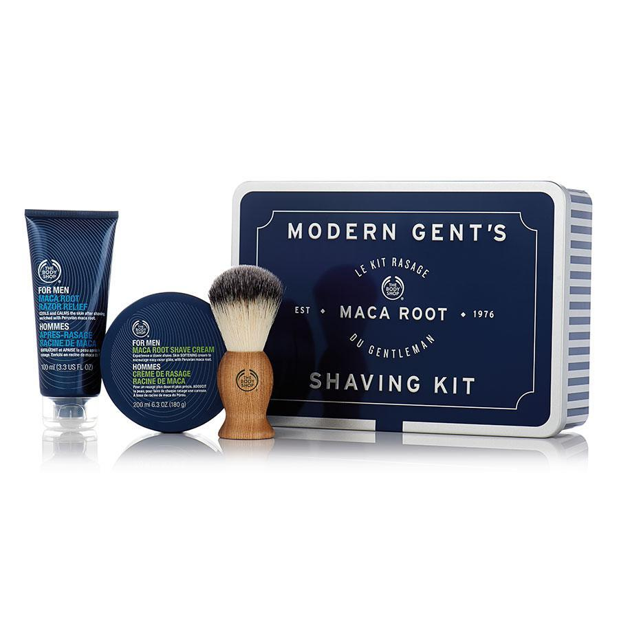 "<p>Everything dad needs to keep his face looking fresh and clean, all in a handy tin. <i>($35 <a href=""http://www.thebodyshop.ca/en/gifts/mens-gifts/modern-gents-shaving-kit.aspx"" rel=""nofollow noopener"" target=""_blank"" data-ylk=""slk:via The Body Shop"" class=""link rapid-noclick-resp"">via The Body Shop</a>)</i></p>"