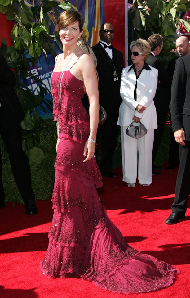 Allison Janney at the 58th Annual Primetime Emmy Awards in Los Angeles on August 27, 2006.