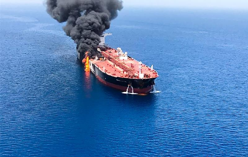 "Iranian Foreign Minister Mohammad Javad Zarif said the ""reported attacks"" on two tankers in the Gulf were ""suspicious"" (AFP Photo/-)"