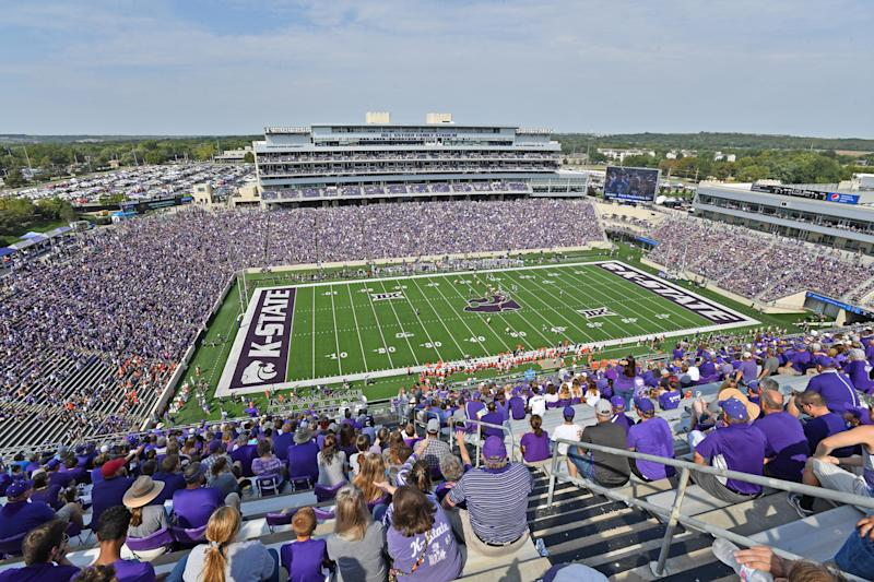MANHATTAN, KS - SEPTEMBER 07: A general view of Bill Snyder Family Football Stadium during the first half between the Kansas State Wildcats and Bowling Green Falcons on September 7, 2019 in Manhattan, Kansas. (Photo by Peter G. Aiken/Getty Images)