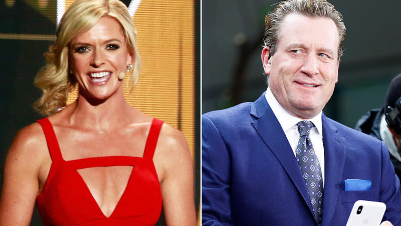 Jeremy Roenick, pictured here before making sexually suggestive comments about Kathryn Tappen.