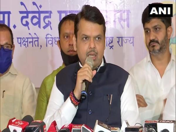 Maharashtra's former chief minister Devendra Fadnavis speaks to reporters in Pune on Wednesday. (Photo/ANI)