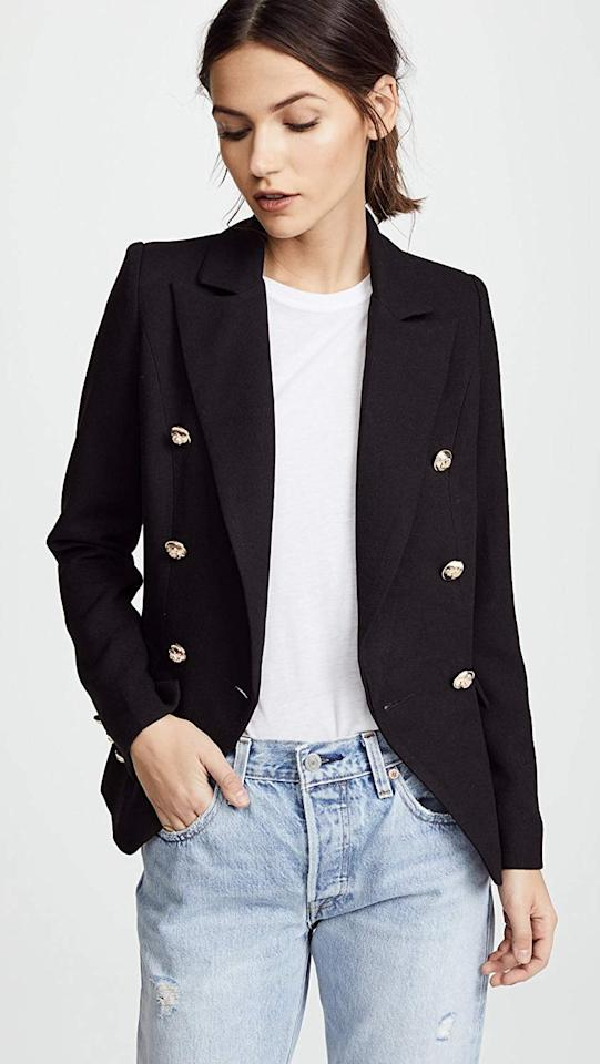 "<p>You can wear this classic <a href=""https://www.popsugar.com/buy/Lioness-Palermo-Blazer-502988?p_name=Lioness%20Palermo%20Blazer&retailer=amazon.com&pid=502988&price=88&evar1=fab%3Aus&evar9=45701523&evar98=https%3A%2F%2Fwww.popsugar.com%2Ffashion%2Fphoto-gallery%2F45701523%2Fimage%2F46391908%2FLioness-Palermo-Blazer&list1=shopping%2Camazon%2Caffordable%20shopping%2Cbest%20of%202019&prop13=mobile&pdata=1"" rel=""nofollow"" data-shoppable-link=""1"" target=""_blank"" class=""ga-track"" data-ga-category=""Related"" data-ga-label=""https://www.amazon.com/Lioness-Womens-Palermo-Blazer-Black/dp/B079LJTCC9/ref=sr_1_1?dchild=1&amp;keywords=shopbop+blazer&amp;qid=1571265317&amp;s=apparel&amp;sr=1-1"" data-ga-action=""In-Line Links"">Lioness Palermo Blazer</a> ($88) so many ways.</p>"