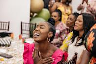 My dear co-star and sister of honor Nia Jervier reacting as I shared a story about a particular date night photo with Darroll. Emitting so much love!