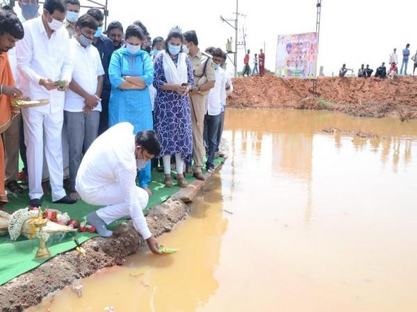 Dr K Sudhakar inaugurated various developmental works in the district. [Photo/ANI]