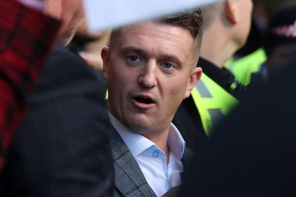Tommy Robinson at the Old Bailey  (AFP/Getty Images)