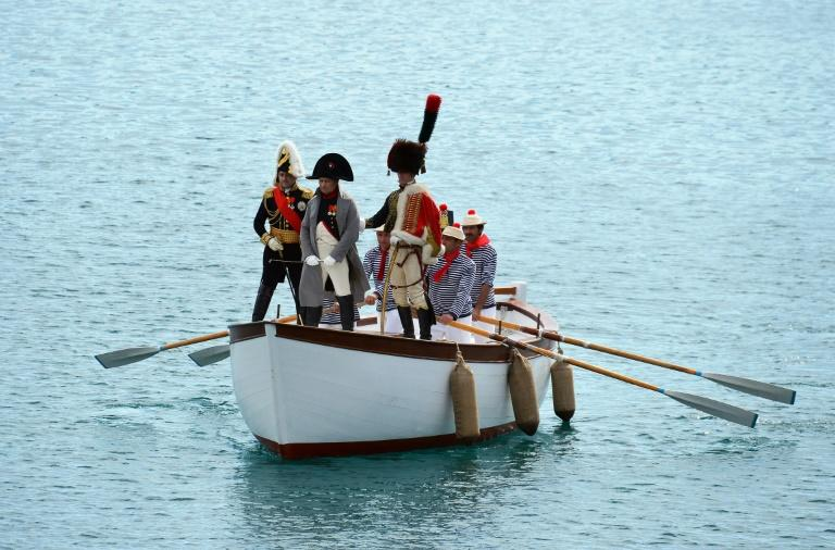 A 2014 reenactment of the arrival at the Italian island of Elba of French emperor Napoleon Bonaparte, whom US President Donald Trump suggested, tongue-in-cheek, could help Syria protect the Kurds