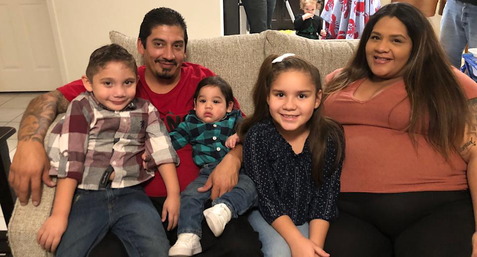 Manuel Medina and Veronica Bernal with some of their family.