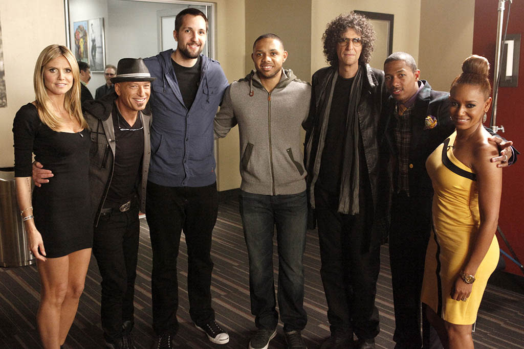 AMERICA'S GOT TALENT -- New Orleans Auditions -- Pictured: (l-r) Heidi Klum, Howie Mandel, Ryan Anderson, Eric Gordon, Howard Stern, Nick Cannon, Mel B