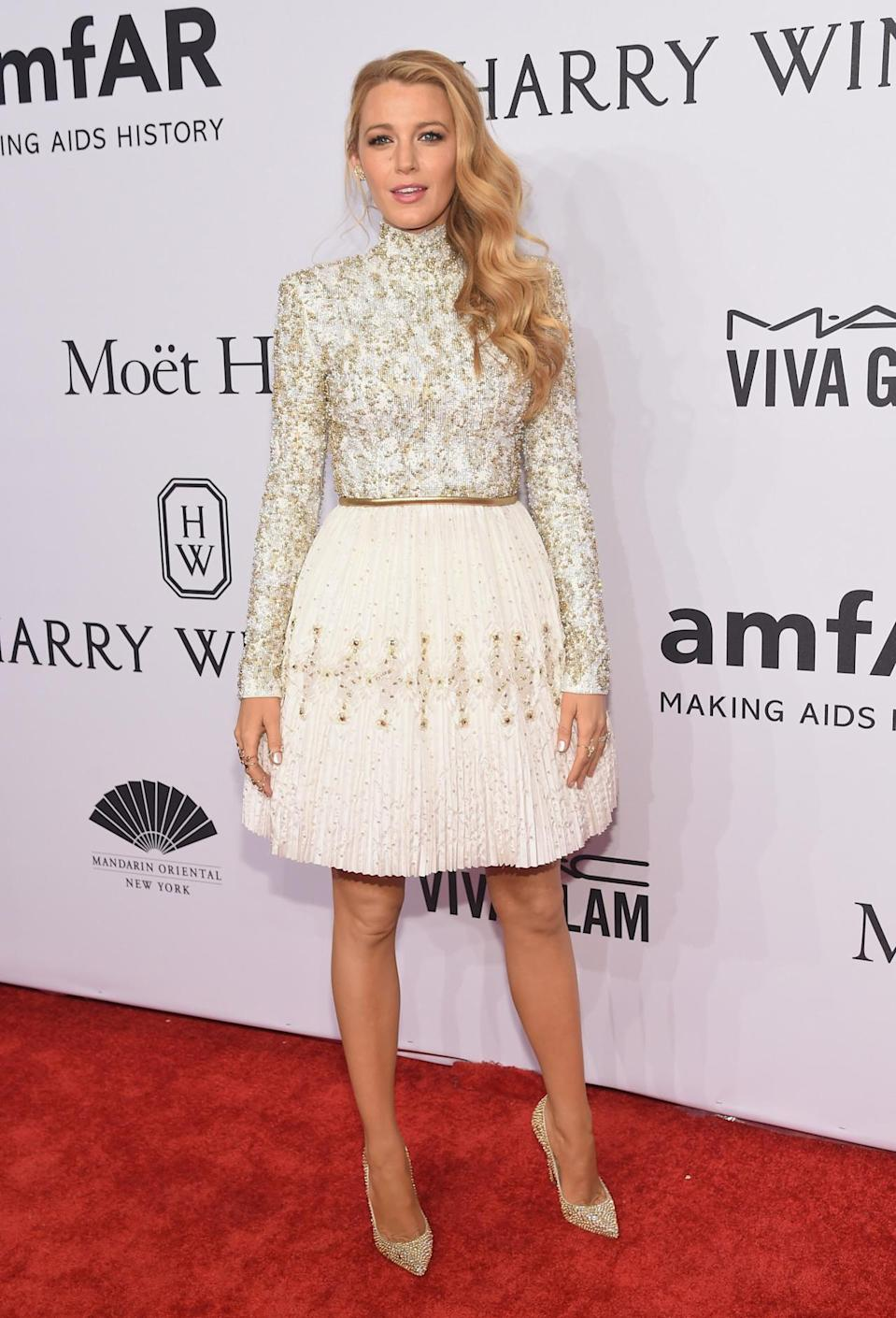 <p>Dripping in Chanel haute couture, Blake Lively flaunted her sartorial prowess at the star-studded event.<i> [Photo: Getty]</i></p>