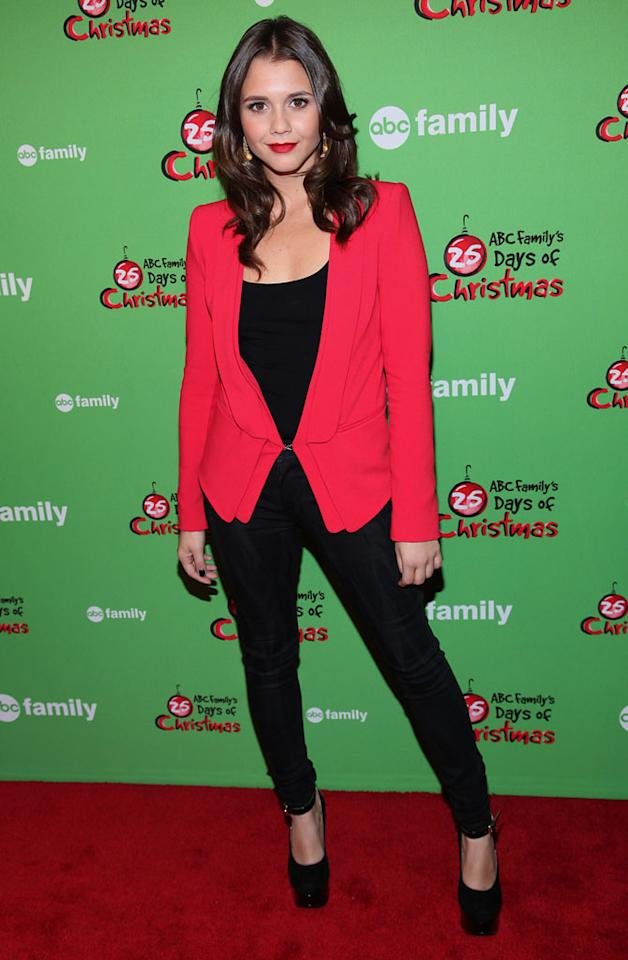 "Alexandra Chando of ""The Lying Game"" attends ABC Family's ""25 Days Of Christmas"" Winter Wonderland event at Rockefeller Center on December 2, 2012 in New York City."