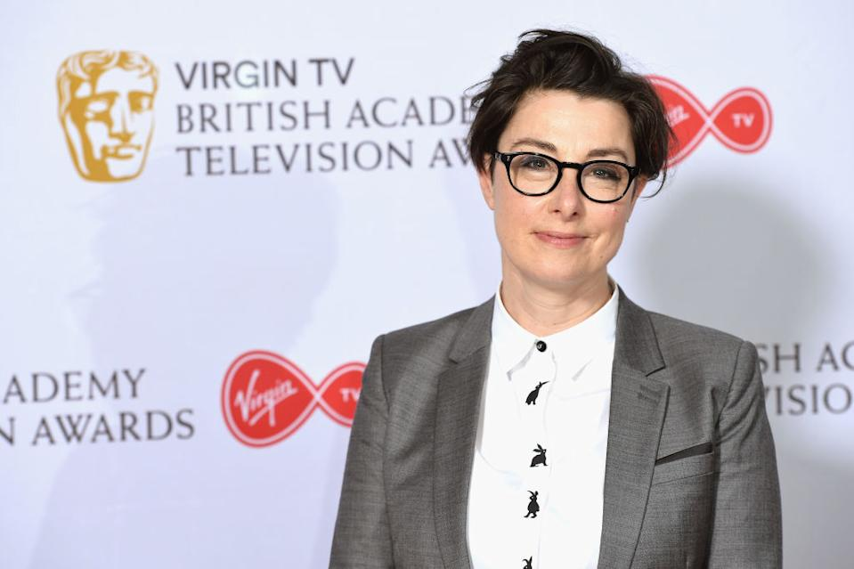 Sue Perkins is warning about the importance of eye health after an optician spotted her father's brain tumour, pictured in April 2018. (Getty Images)