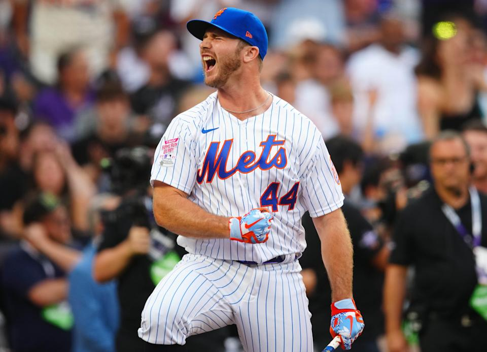 Pete Alonso is fired up after slugging 35 first-round homers.