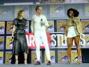 Mystery shrouds the arrival of Wanda and Vision in their bizarre new home, and some neighbors (Teyonah Parris, right) appear to know more than they initially let on