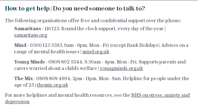 DO YOU NEED SOMEONE TO TALK TO?