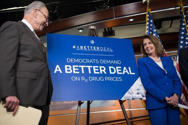 The prescription drug reforms that Senate Minority Leader Chuck Schumer (D-N.Y.) andHouse Speaker Nancy Pelosi (D-Calif.) have supported would reduce drug prices, which in turn would lower government spending through Medicare. (Photo: Tom Williams via Getty Images)