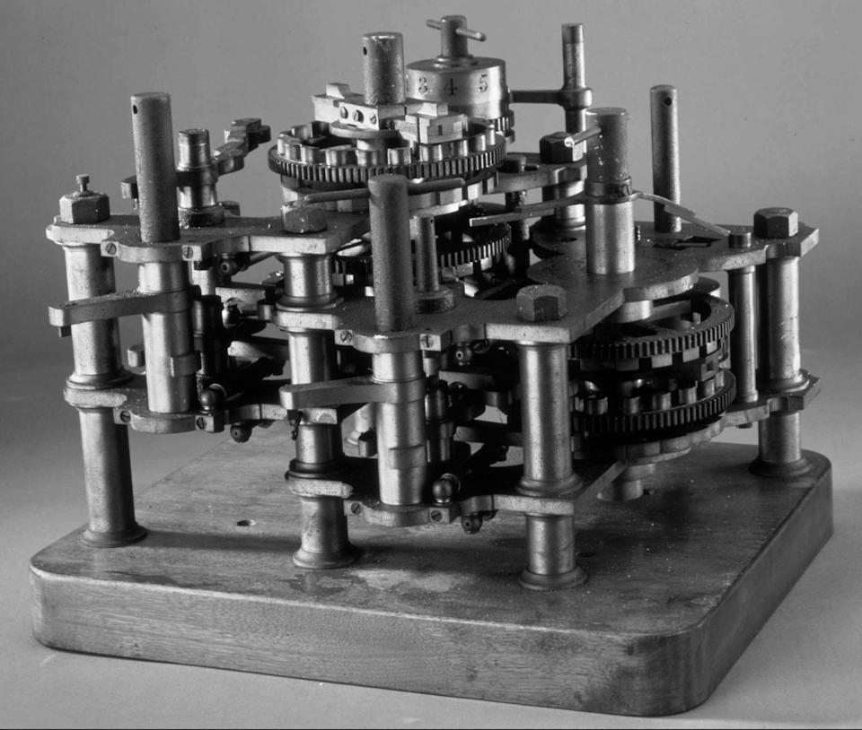 """FILE - This undated file photo shows a section of the """"Difference Engine"""", the first computer ever made, designed by Charles Babbage between 1823 and 1842. From textile machines to the horseless carriage to email, technology has upended industries and wiped out jobs for centuries. It also has created millions of jobs, though usually not for the people who lost them. (AP File Photo)"""