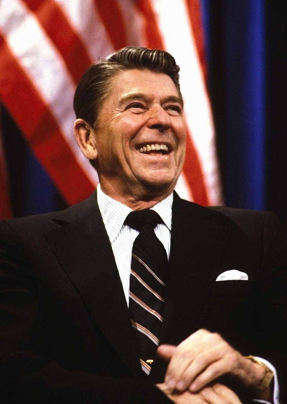 """<p>In March of 1983, President Ronald Reagan announced his missile defense system, nicknamed """"Star Wars"""" by Democratic Senator Ted Kennedy. Many critics expressed concern over the program's potential to reignite a dangerous arms race.</p>"""