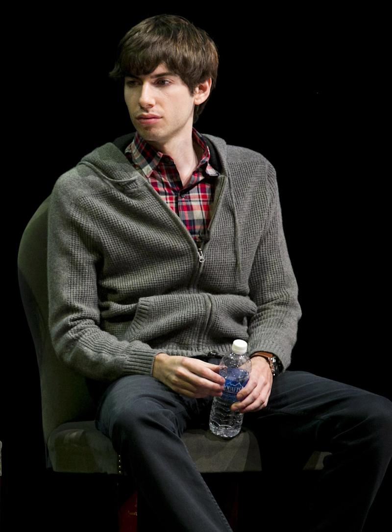 "FILE - In this Oct. 1, 2012 file photo, Tumblr founder David Karp participates in the ""Bloomberg Leadership Summit"" seminar in New York. Karp, 26, who founded Tumblr, the online blogging forum, and sold it to Yahoo for $1.1 billion, doesn't even have a high school diploma. Karp's mother told the AP that she let him leave school because she realized ""he needed the time in the day in order to create.""  (AP Photo/Charles Sykes/Invision for Advertising Week)"