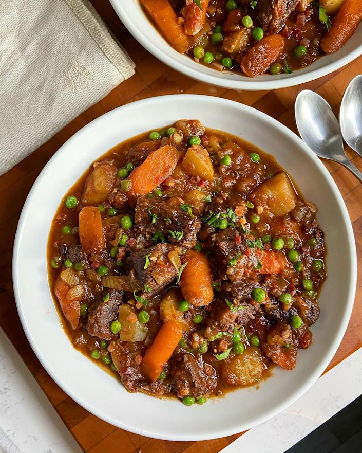 Garten mentioned on TODAY that she turns her beef stew leftovers into a pasta sauce for a second meal. (Trent Pheifer)