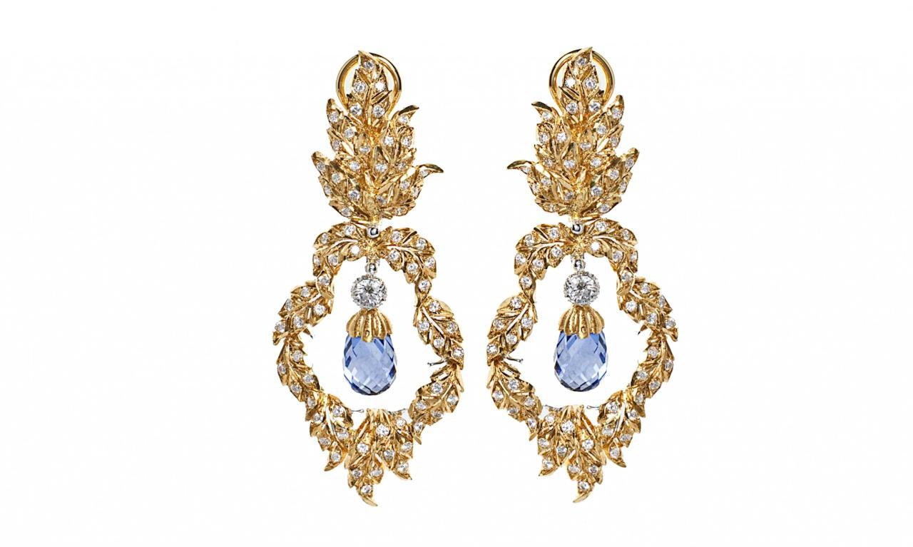 "<p>Brio Pendant Earrings, $47,000, visit <a rel=""nofollow"" href=""http://us.buccellati.com/en/high-jewelry/unica/brio-pendant-earrings"">buccellati.com</a> or call +1 212.308.2900 for more information </p>"