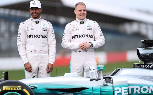 <span>Hamilton will be paired with Valtteri Bottas this season</span> <span>Credit: Reuters </span>