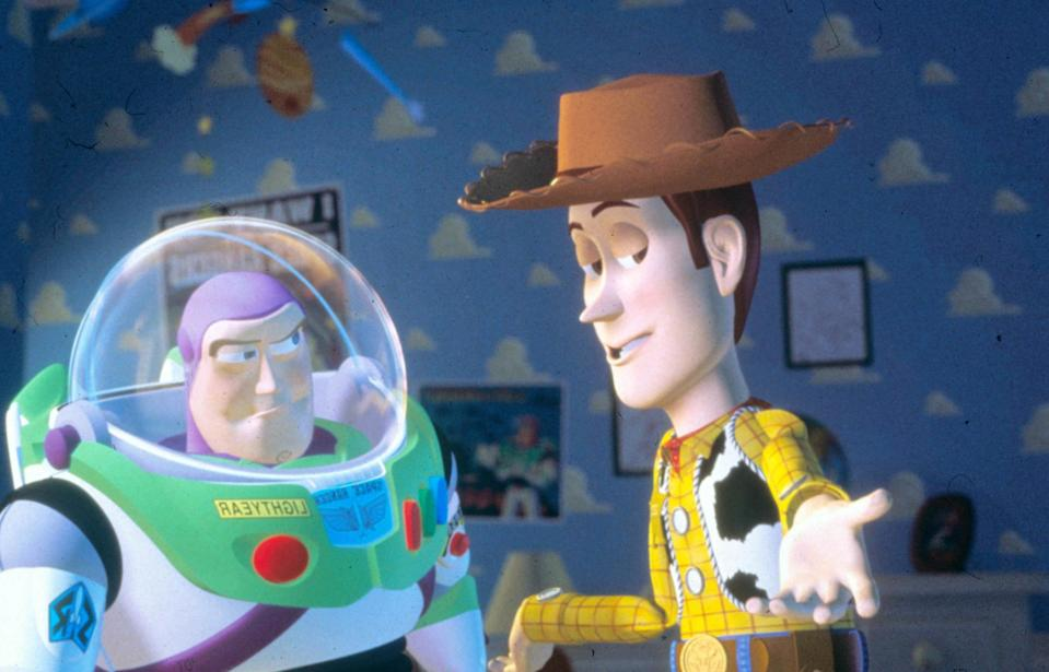 Pixar's first feature film 'Toy Story' in 1995 was also John Lasseter's directorial debut (Rex)