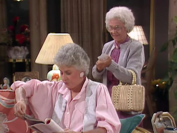 "Bea Arthur and Estelle Getty on ""The Golden Girls."""