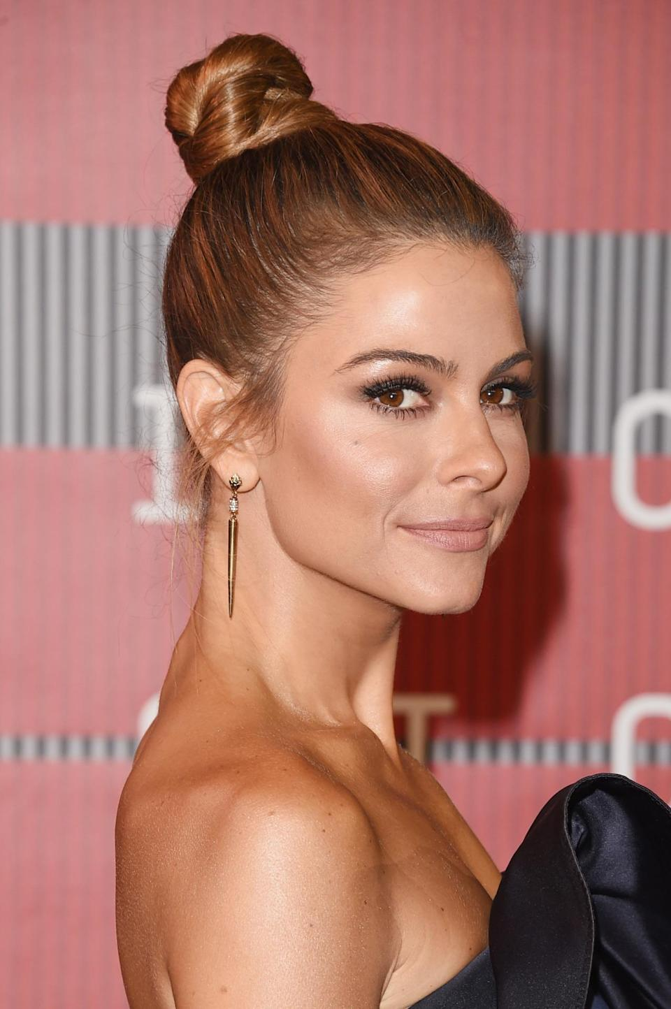 <p>The TV host went for a pretty, ballerina-style topknot at the MTV Video Music Awards.</p><p>Source: Getty Images<br></p>