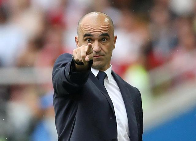 Soccer Football - World Cup - Group G - Belgium vs Tunisia - Spartak Stadium, Moscow, Russia - June 23, 2018 Belgium coach Roberto Martinez gestures during the match REUTERS/Carl Recine TPX IMAGES OF THE DAY