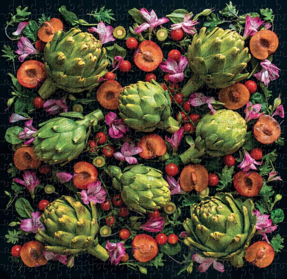 Galison and Mudpuppy Artichoke Floral 500-Piece Puzzle
