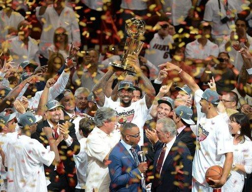 The Miami Heat on Thursday clinched their second NBA title by routing Oklahoma City 121-106