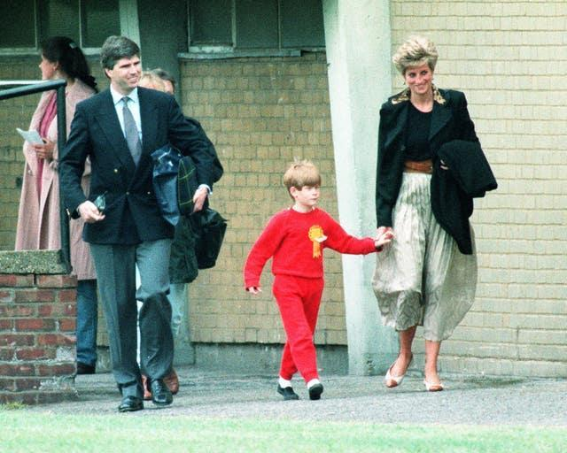 Prince Harry during the Wetherby School sports day at Richmond Athletic club