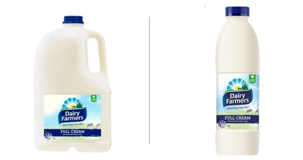 The Dairy Farmers milk that were recalled on Thursday. Source: Lion
