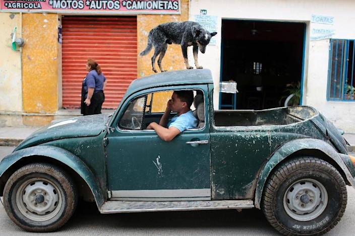 Some old Beetles can still be found on Mexican streets, such as this modified model in Buenavista de Cuellar, Guerrero State, in June 2015 (AFP Photo/Pedro Pardo )
