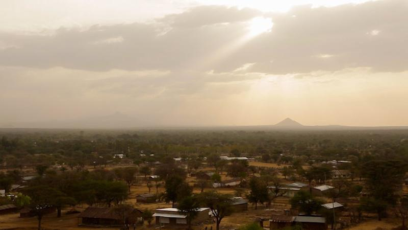 The town of Kacheliba, in Kenya's West Pokot region, is over 100 miles from where Lomerilima lives.  (Zoe Flood)